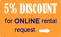 5% discount for online rental request